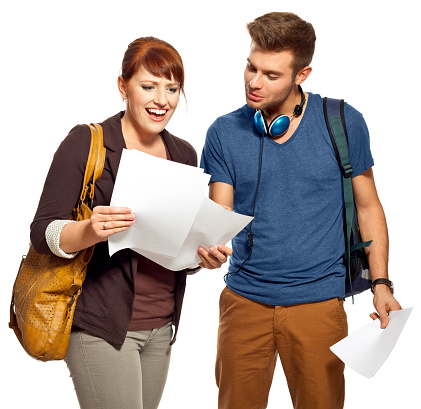 Students Watching Tests Stock Photo - Download Image Now