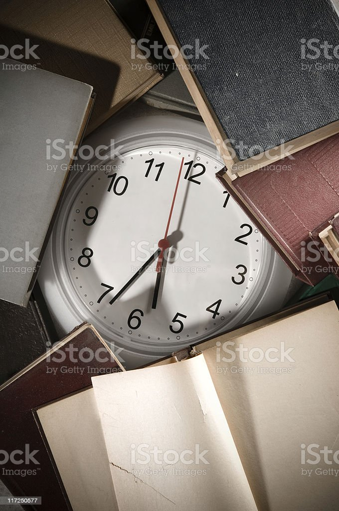 Studing Against Time royalty-free stock photo