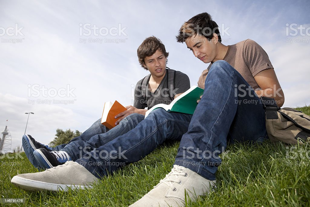 Studing in outdoor royalty-free stock photo