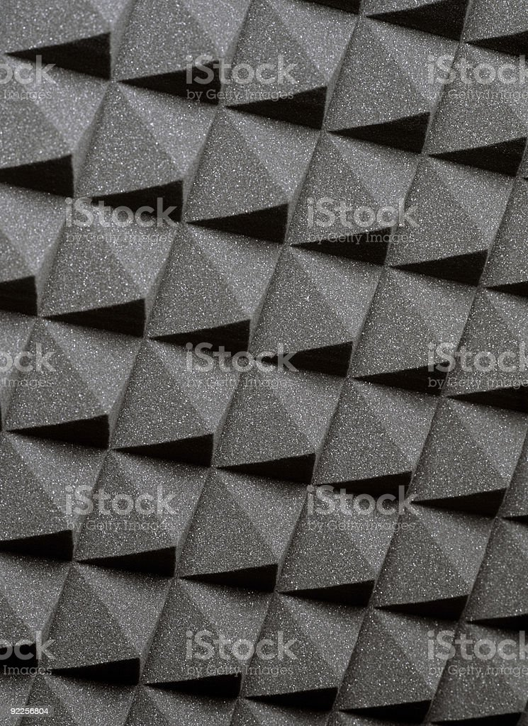 Studio acoustic foam stock photo