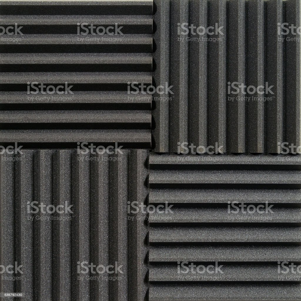 Studio acoustic tiles stock photo