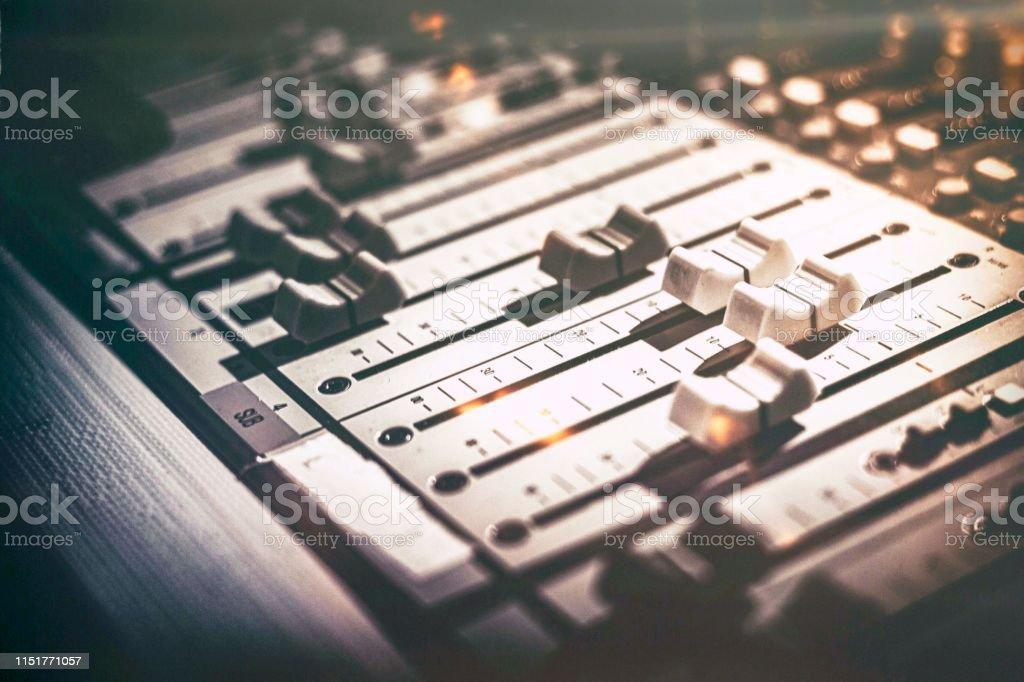 Studio audio sound mixer