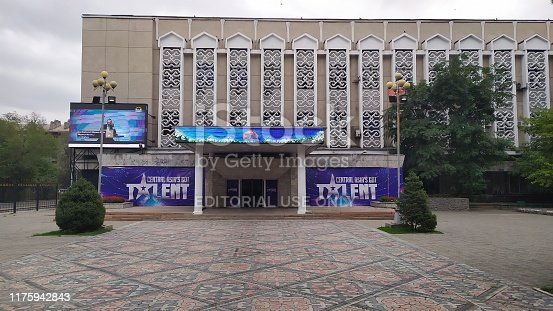 Bishkek, Kyrgyzstan, august 27: TV studio building with Central Asia got Talent in Bishkek, Kyrgyzstan