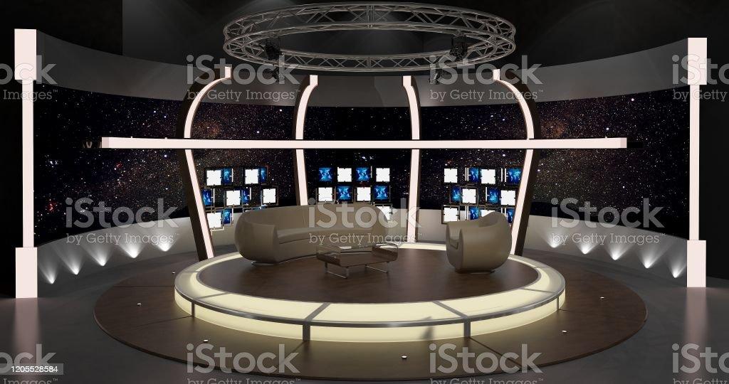Tv Studio Chat Set 2 3d Rendering Stock Photo Download Image Now Istock