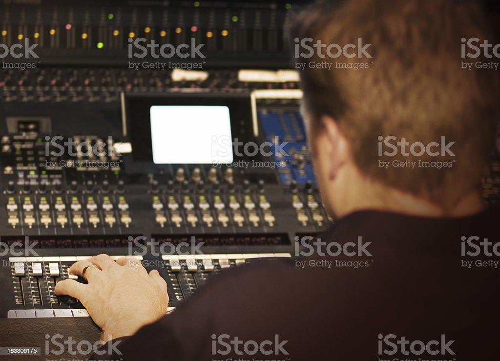 Studio Control stock photo
