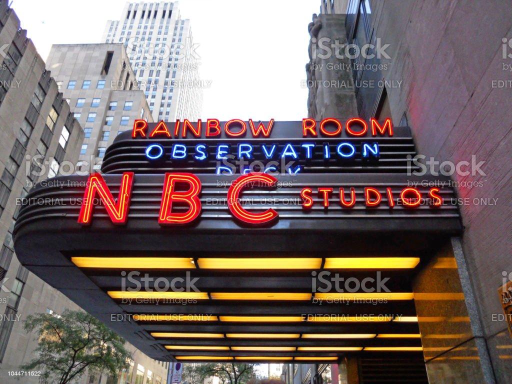 Nbc Studio Entrance To Rockefeller Center Stock Photo Download Image Now Istock