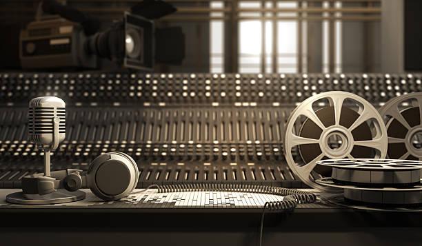 Studio equipment stock photo