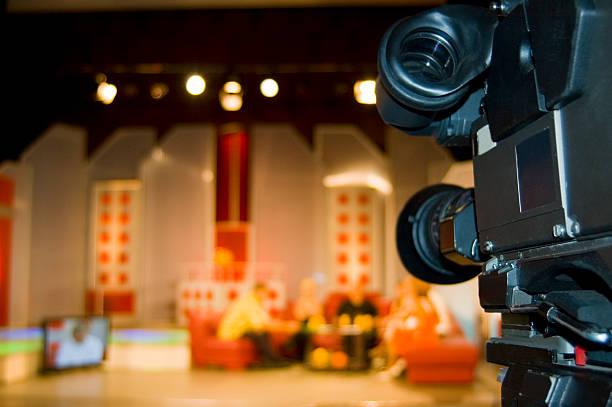 TV studio for video production - Digital camera stock photo