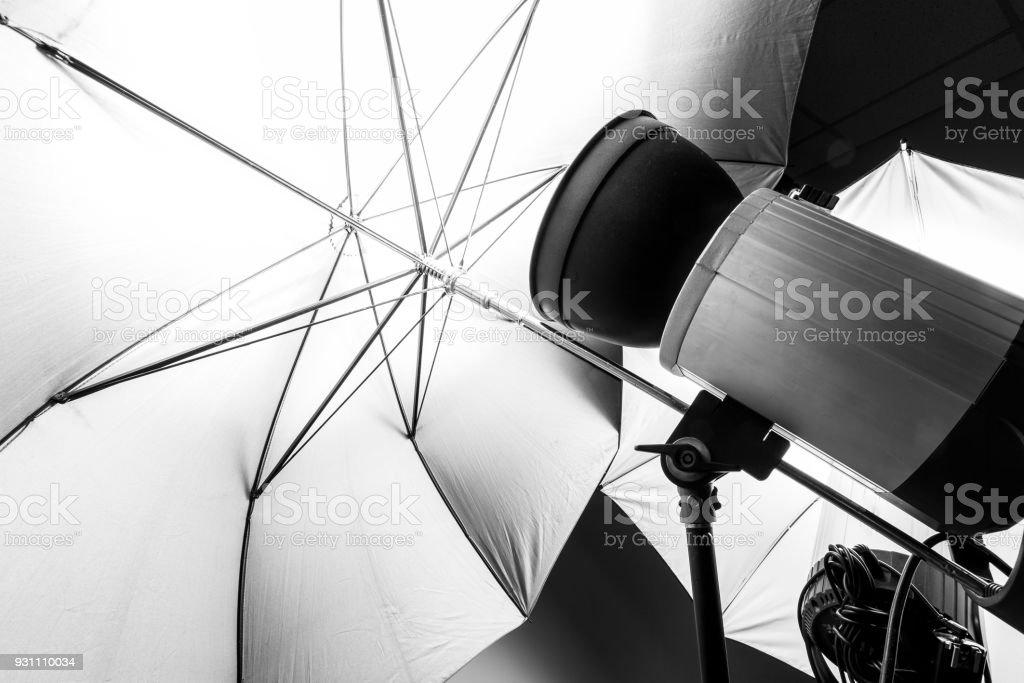 Studio light for photography stock photo