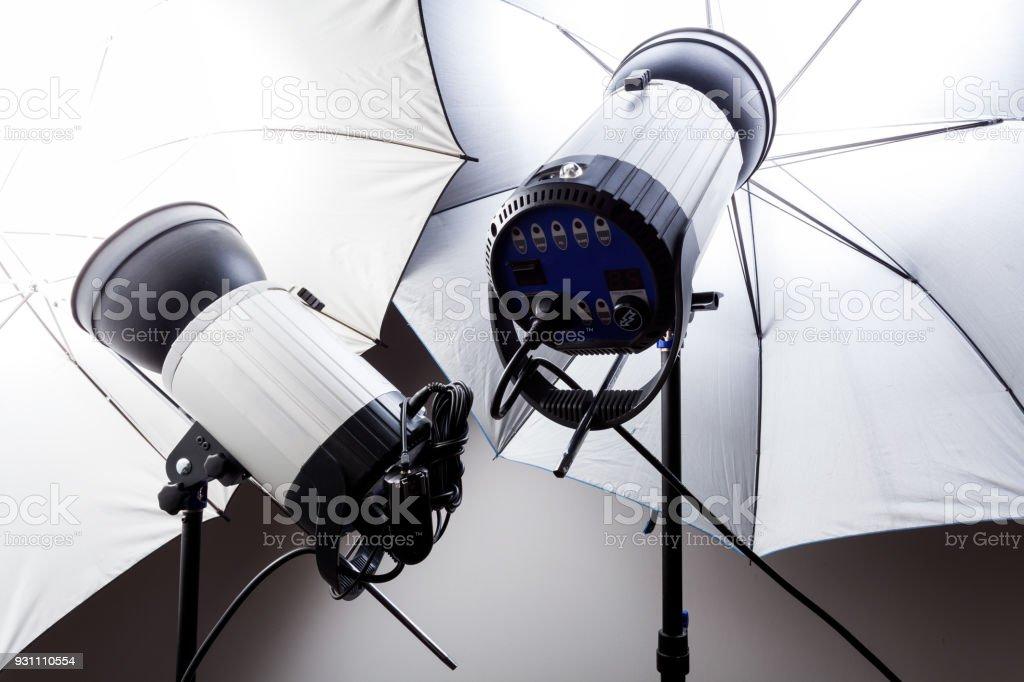 Stüdyo ışık fotoğrafçılık için - Royalty-free Aydınlatma Ürünleri Stok görsel