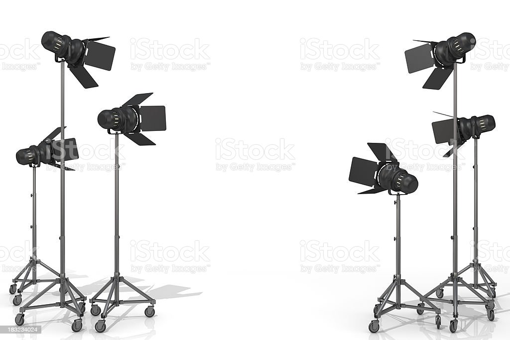 studio lighting stock photo