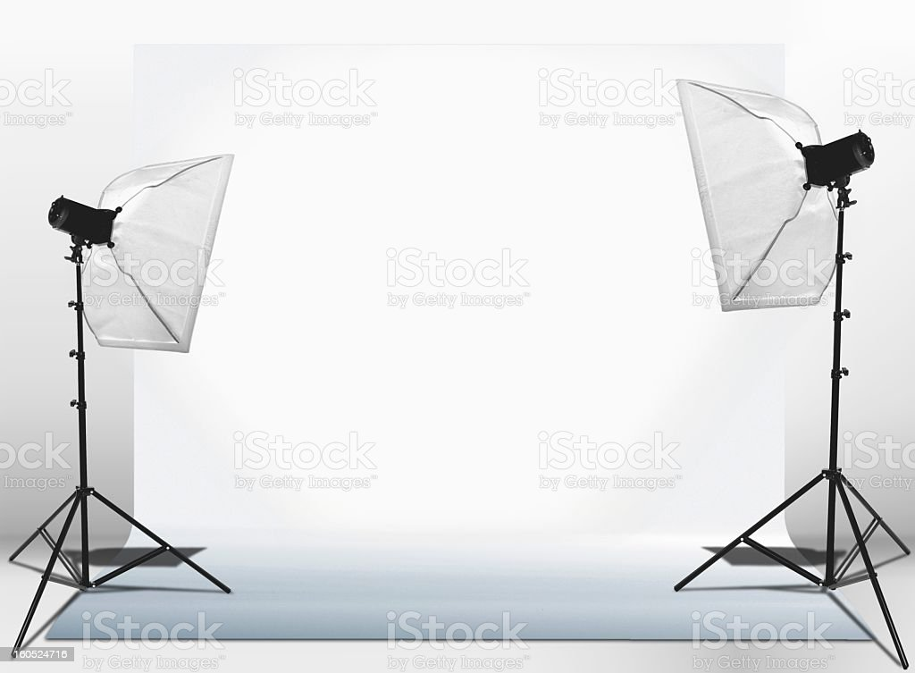 Studio lights set-up royalty-free stock photo