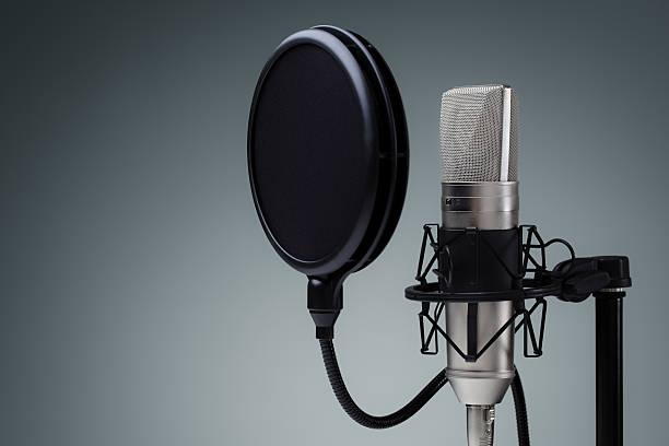 Studio microphone stock photo