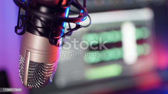 istock Studio Microphone Recording Podcast Audio 1256622940