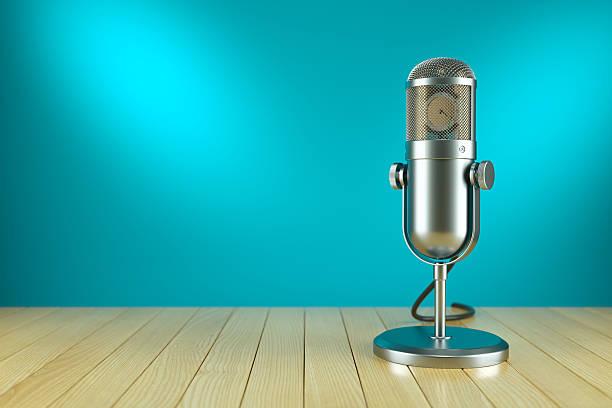Studio microphone stand. On the AIR radio – Foto