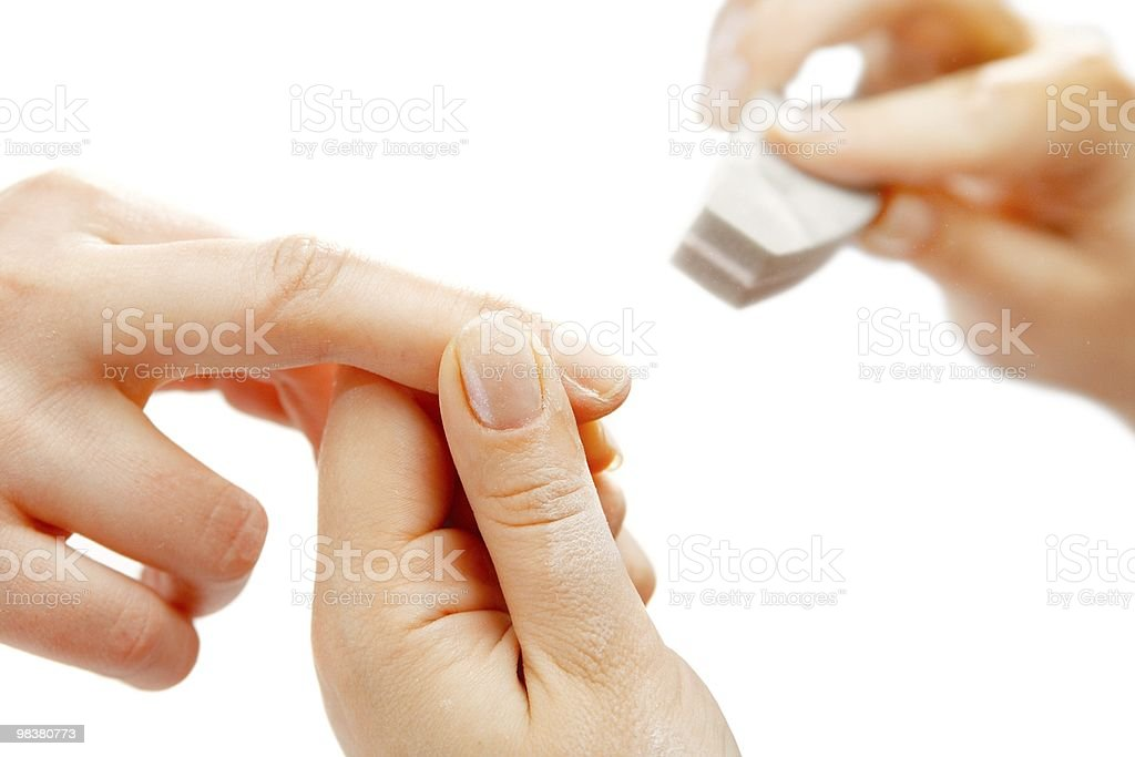 Studio nail royalty-free stock photo