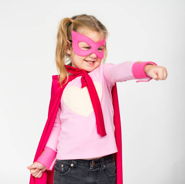 studio people kid model shoot race - superwoman barn bildbanksfoton och bilder