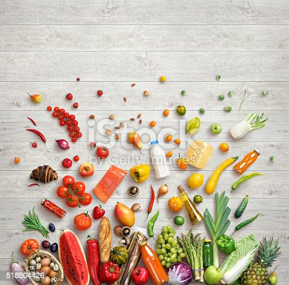 istock Studio photo of different fruits and vegetables 518504426