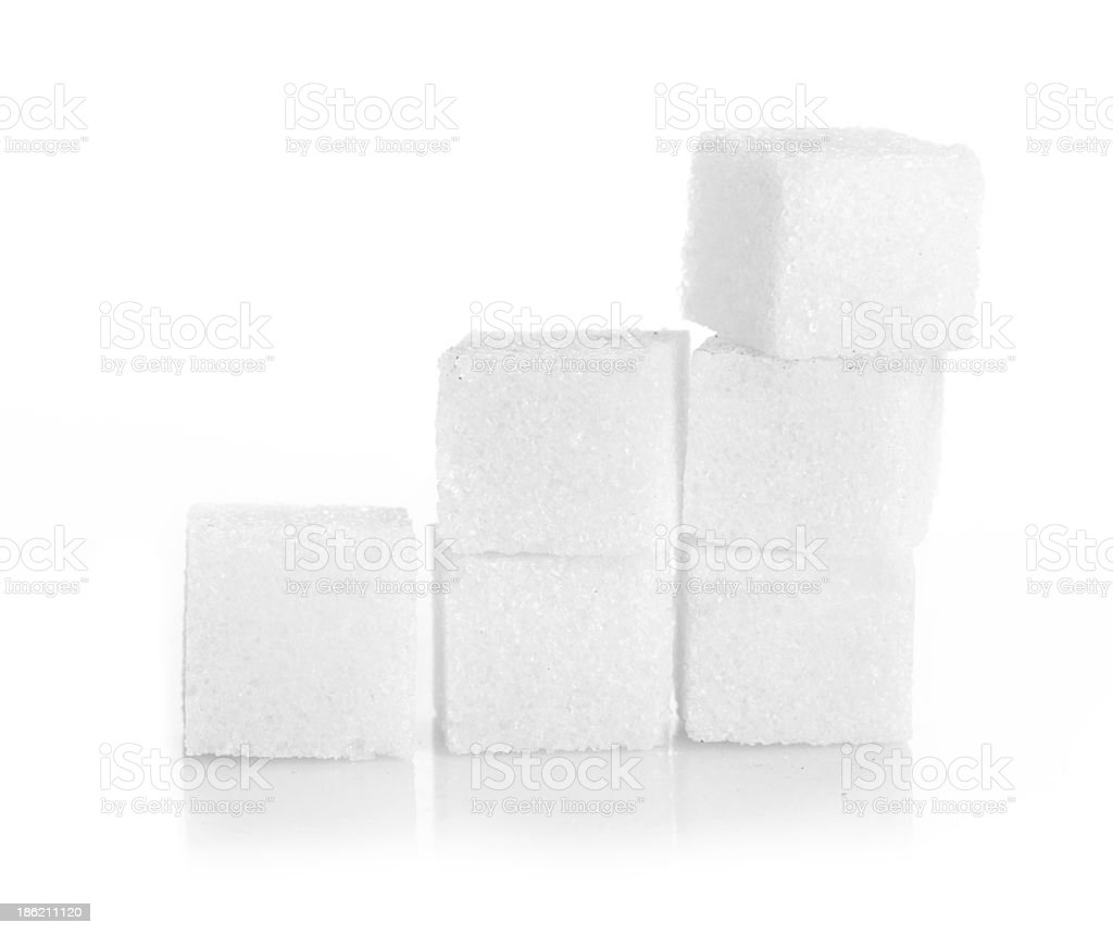 Studio photography of a lump sugar stock photo