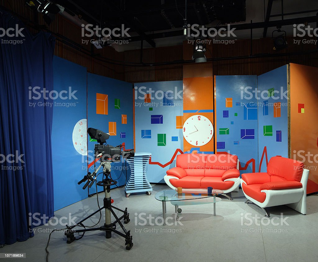 tv studio furniture. Tv Studio Furniture. TV Royalty-free Stock Photo Furniture