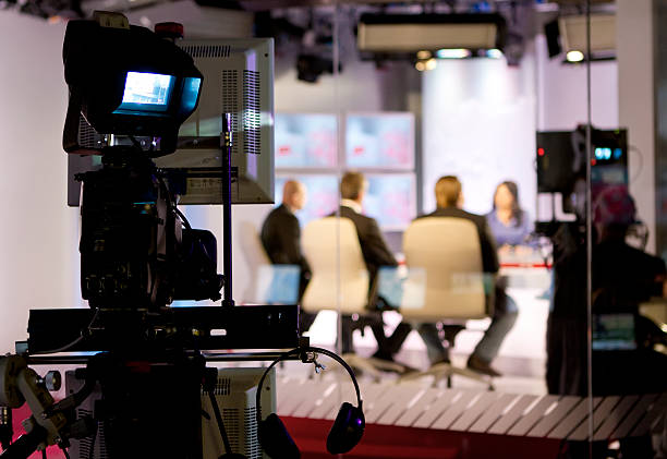 TV studio Recording live talk show at television studio performing arts event stock pictures, royalty-free photos & images