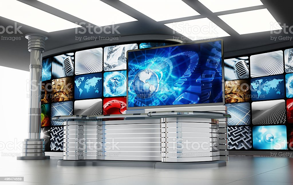 TV studio stock photo