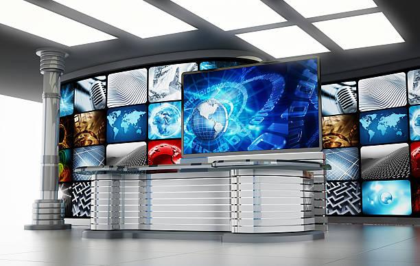 Estudio de televisión - foto de stock