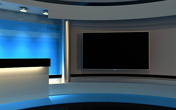 Studio Tv studio , 3d render anchor athlete stock pictures, royalty-free photos & images