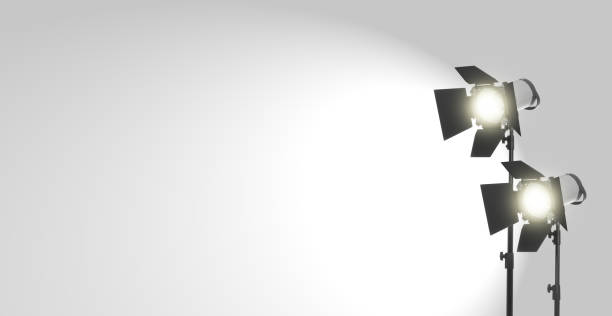Studio Studio lights on white background spot lit stock pictures, royalty-free photos & images