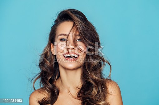 istock Studio portrait of a beautiful girl 1224234453