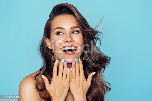 istock Studio portrait of a beautiful girl 1224234487