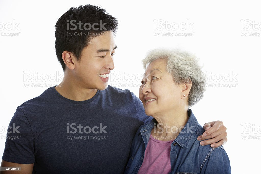Asian mom and son