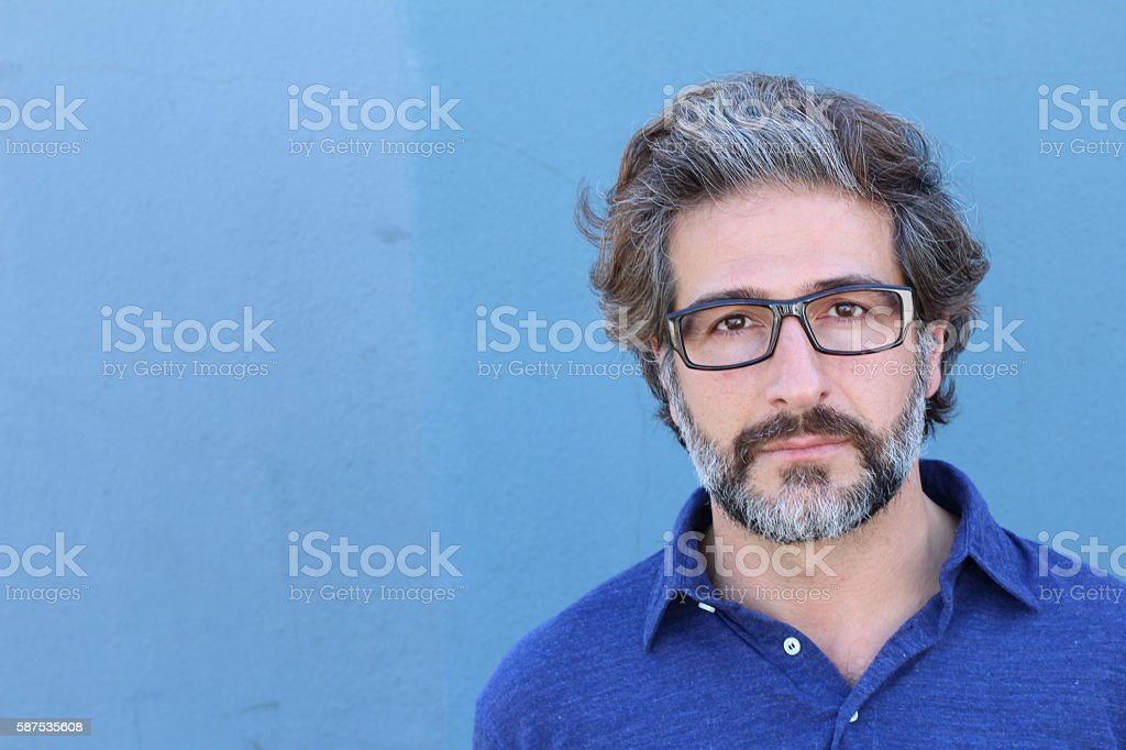 Studio portrait of a handsome business man royalty-free stock photo