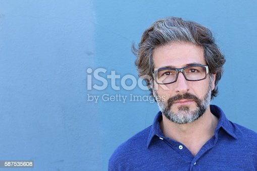 istock Studio portrait of a handsome business man 587535608