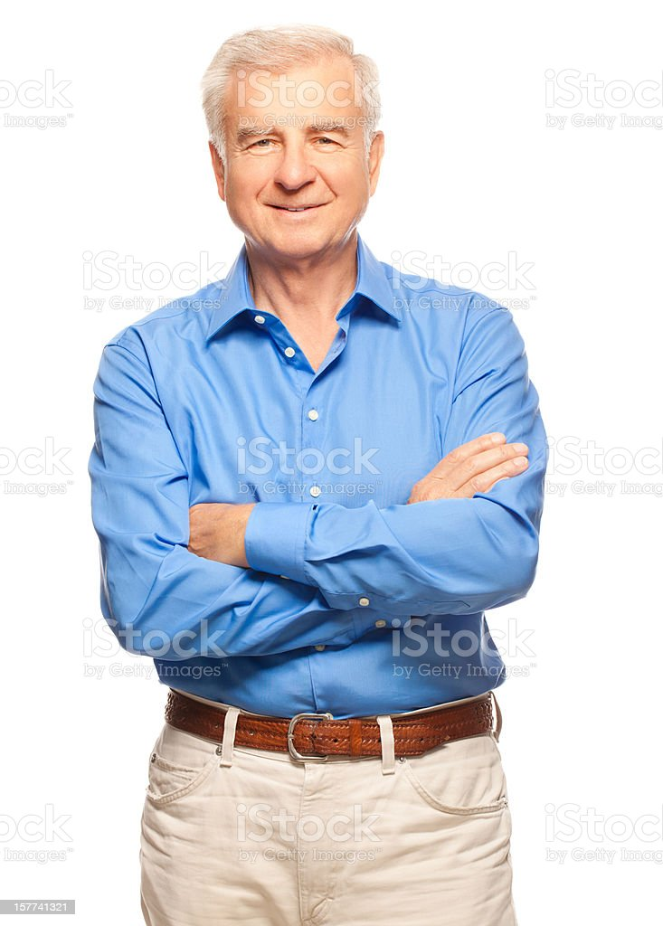 Studio Portrait of a Senior Man stock photo