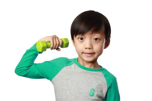 Studio portrait of boy stock photo