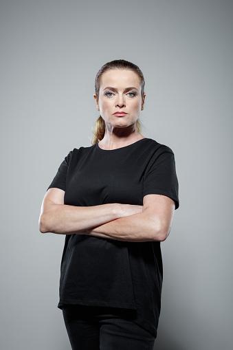 Studio Portrait Of Sad Woman Stock Photo - Download Image Now