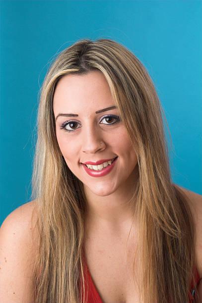 Studio portrait shot stock photo