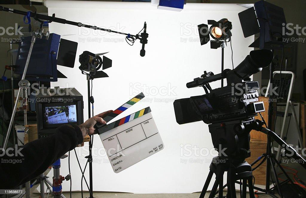 Studio setup 2 with slate stock photo