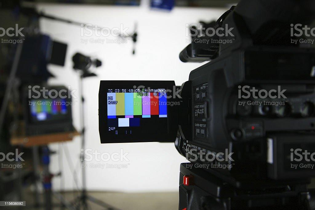 Studio setup 3 camera with viewfinder royalty-free stock photo