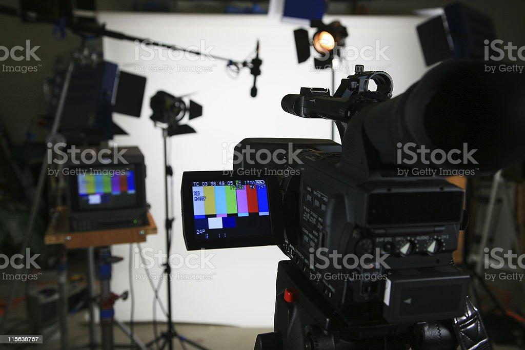Studio setup 4 with video camera stock photo