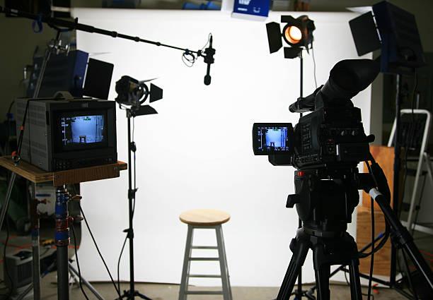 Studio setup - stool stock photo