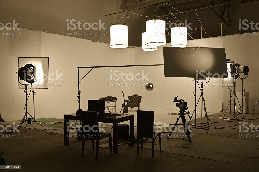 Studio shooting set stock photo