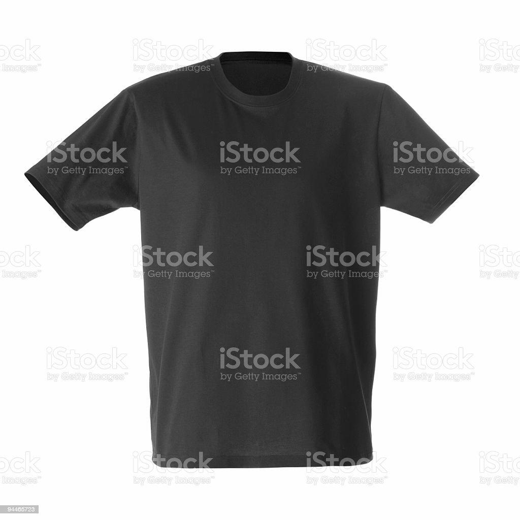Studio shot black T-shirt on white background royalty-free stock photo