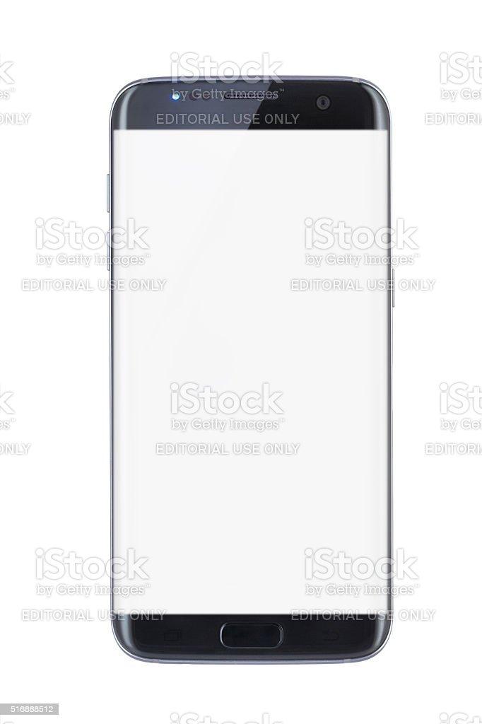 Studio shot of a black Edge smartphone stock photo