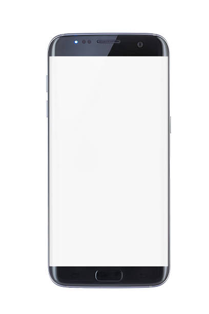 studio shot of a black edge smartphone - cyborg stock photos and pictures