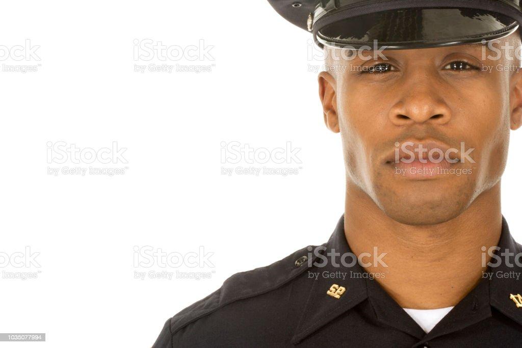 Studioaufnahme von afrikanischen männlicher Polizist – Foto