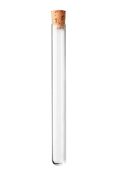Studio shot of an empty test tube with a cork A studio shot of an empty test tube with a cork isolated on white background tube stock pictures, royalty-free photos & images
