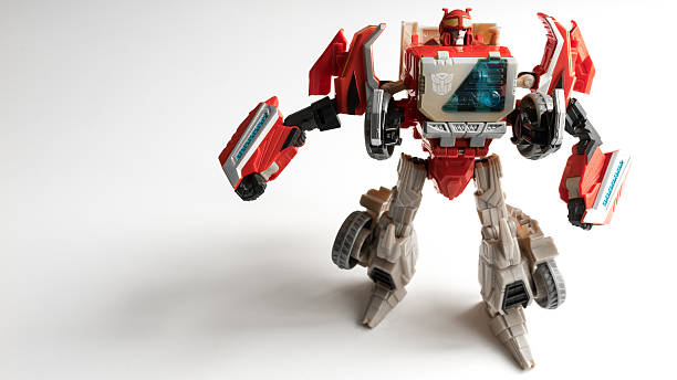 studio shot of autobot blaster figure from transformers series - transformers stock photos and pictures