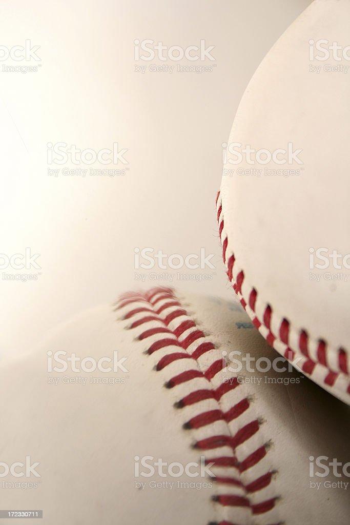 Studio shot of baseball royalty-free stock photo